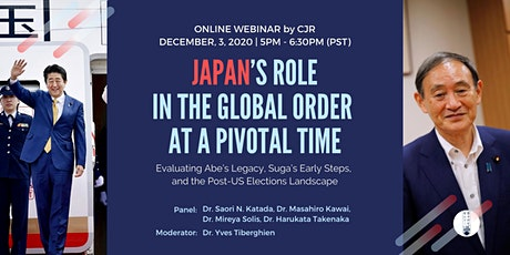Japan's Role in the Global Order at a Pivotal Time tickets