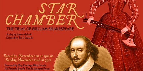 STAR CHAMBER: The Trial of William Shakespeare tickets
