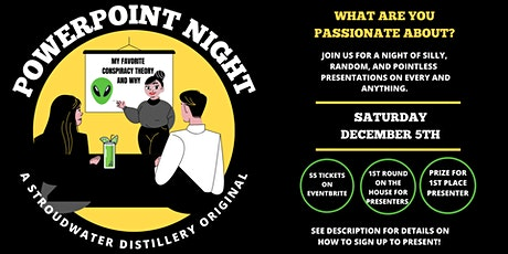 PowerPoint Night at Stroudwater Distillery tickets
