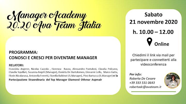 Immagine Manager Academy 20.20 Ava Team Italia