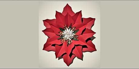 Paper Poinsettia and Wine Class 20201208 tickets