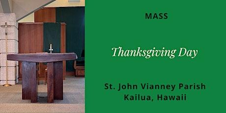 St. John Vianney Kailua, Mass for Thanksgiving Day, November 26, 2020 tickets