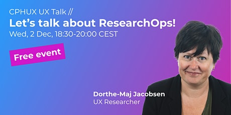 Let's talk about ResearchOps! // UX Talk tickets