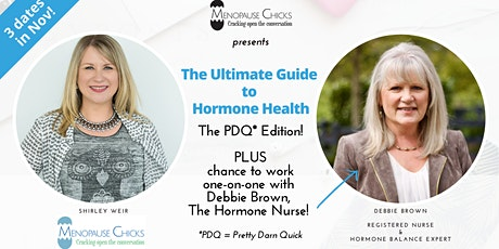 The Ultimate Guide to Hormone Health: PDQ Edition! tickets