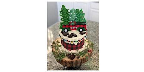 Country Christmas Online Cake Tutorial and Cake Kit biglietti