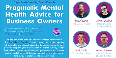 Pragmatic Mental Health Advice for the Business Owners tickets