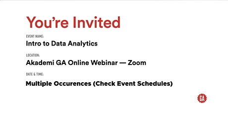 Intro to Data Analytics | Akademi GA tickets