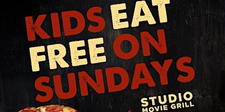 Kids Eat FREE Sundays - Studio Movie Grill Theaters tickets