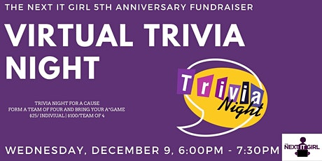 The Next IT Girl - Trivia Night Virtual Fundraiser tickets