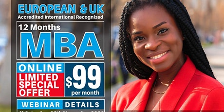 Free Internationally Recognized UK and European MBA Webinar and Certificate tickets