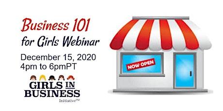 Business 101 for Girls Webinar