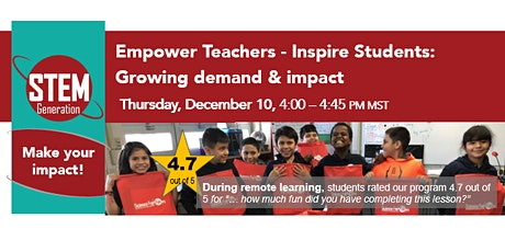 Empower Teachers - Inspire Students: Growing demand & impact tickets