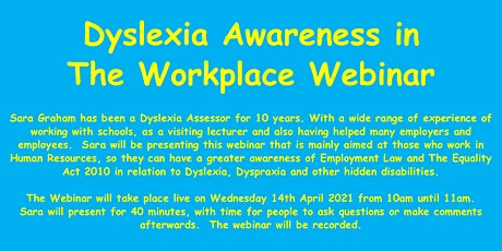 Dyslexia Awareness in the Workplace tickets