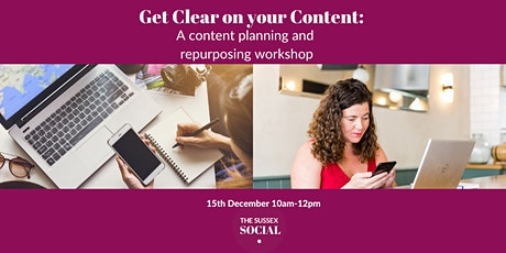 Get clear on your content: A content planning and repurposing workshop tickets