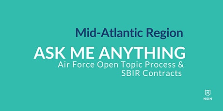 NSIN Ask Me Anything:  SBIR Contracts - Mid-Atlantic Region tickets