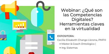 Webinar: Competencias Digitales. Herramientas claves en la virtualidad entradas