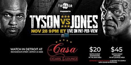 Watch at La Casa: Tyson vs Jones Boxing Fight tickets