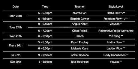 EUYS Yoga Classes Week 10: 23rd - 29th November tickets