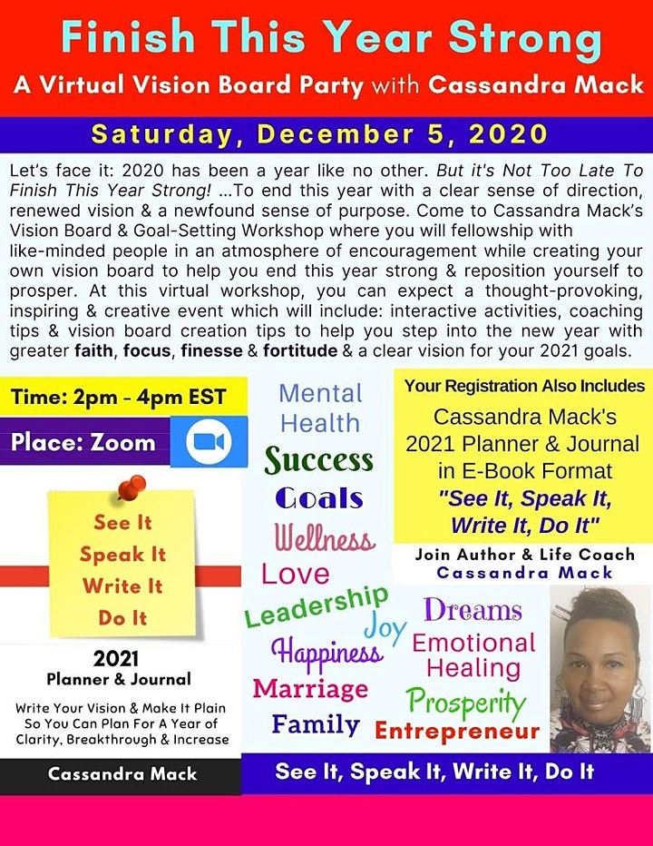 Finish The Year Strong: A Vision Board & Goal-Setting Workshop image