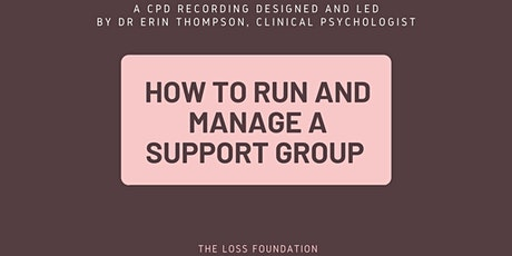 CPD Recording - How to run and manage a support group tickets
