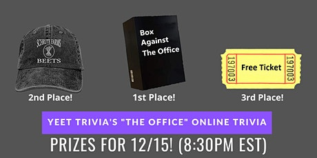 The Office Virtual Trivia 12/15 tickets