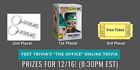 The Office Virtual Trivia 12/16 tickets