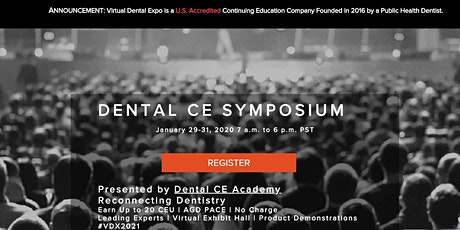 Dental CE Symposium. Earn Up to 20 CEU. AGD PACE. No Charge to Attend tickets