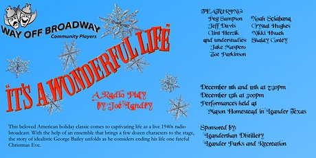 """It's a Wonderful Life"" A Radio Play by Joe Landry tickets"