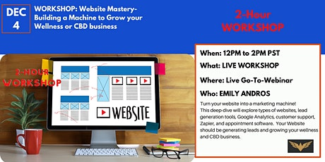 Live Workshop: Website Marketing Mastery-Growing Your Business tickets