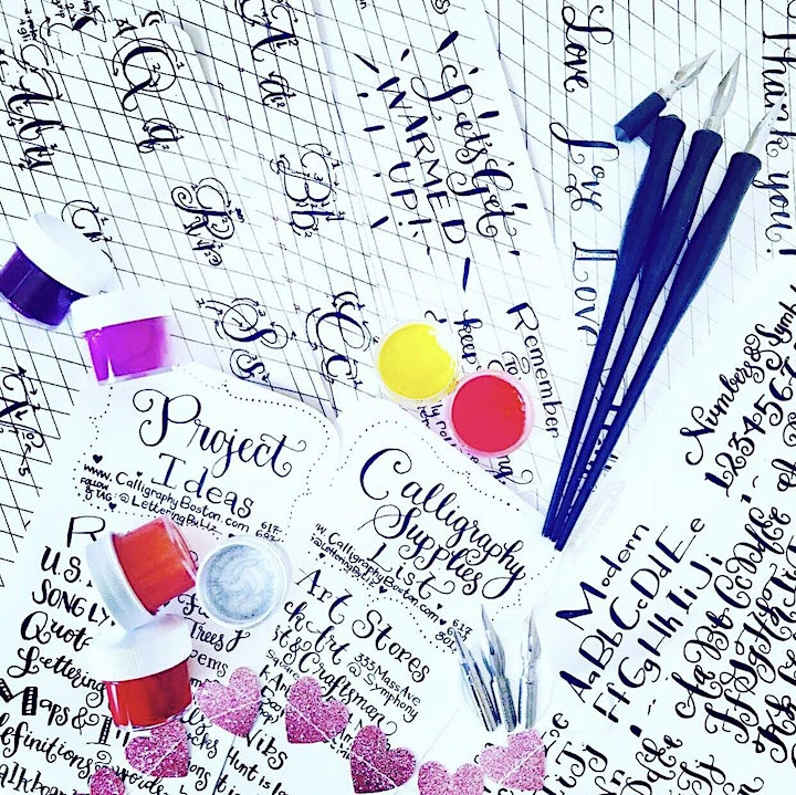 Gift Card & Supplies Kit for Virtual or IRL Calligraphy Lesson(s) image