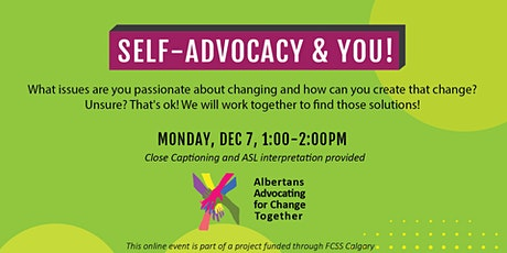 Self-Advocacy and YOU! tickets