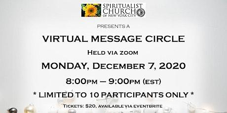 SCNYC December 7, 2020 Virtual Message Circle tickets