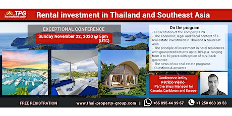 ***Web conference on the benefits of retiring in Thailand*** tickets