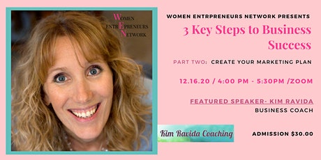 3 KEY STEPS TO BUSINESS SUCCESS  Part 2- Create your marketing plan tickets