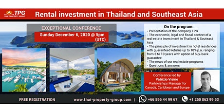 **Web Conference on real estate investment in Thailand and Southeast Asia** tickets