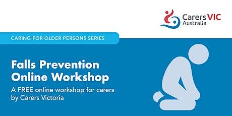 Falls Prevention Online Workshop #7702 tickets