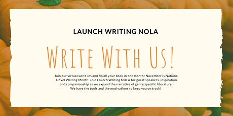 Virtual Write-In for NaNoWriMo tickets