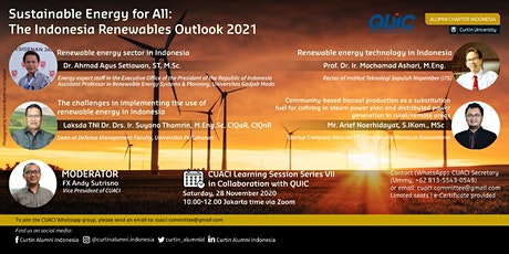 Sustainable Energy for All: The Indonesia Renewables Outlook 2021 tickets