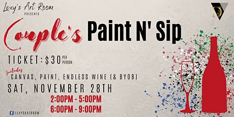 Couples Sip N' Paint Night tickets