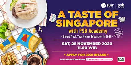 PSB Online Info Session A Taste of Singapore - 28 November 2020 tickets
