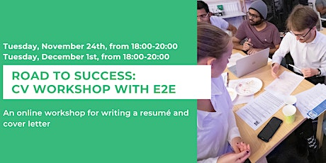 Road to Success: CV Workshop With E2E tickets