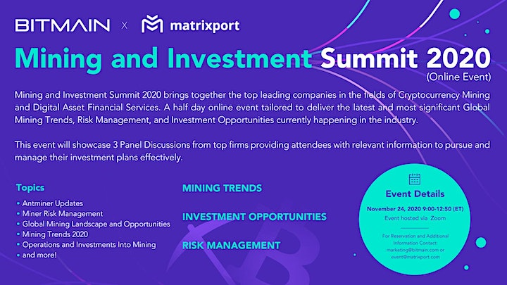 Mining and Investment Summit 2020 image