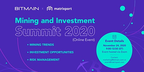 Mining and Investment Summit 2020 tickets