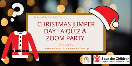 Save the Children Christmas Jumper Day Fundraiser: Quiz & Zoom Party tickets