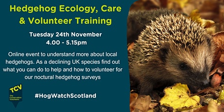 HogWatch Scotland – Hedgehog ecology & care tickets