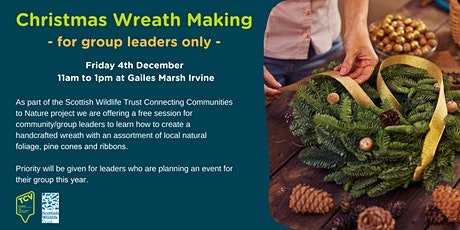 Christmas Wreath Making - for group leaders only -