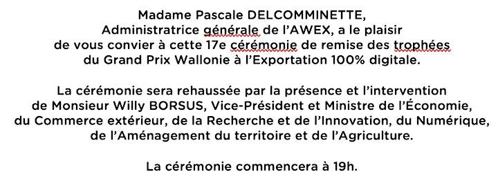 Image pour Grand Prix Wallonie à l'Exportation 2020