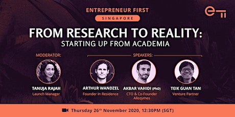 From Research to Reality: Starting up from academia tickets