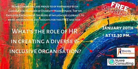 What's the role of HR in creating a diverse and inclusive organisation? tickets