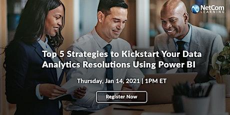 Webinar - Kickstart Your Data Analytics Resolutions Using Power BI tickets